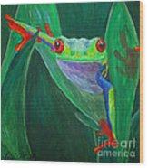 Seeing Eye To Eye Wood Print by Terri Maddin-Miller