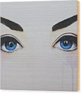 Seeing Into The Soul Seductive Wood Print