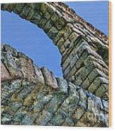Segovia Aqueduct Arch By Diana Sainz Wood Print