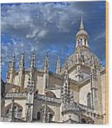 Segovia Gothic Cathedral Wood Print by Ivy Ho
