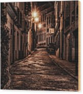 Segovia Predawn Wood Print by Joan Carroll