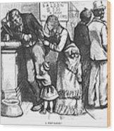 Segregated Saloon, 1875 Wood Print