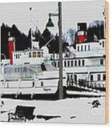 Segwun And Wenonah Steamships In Winter Wood Print