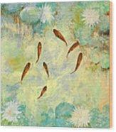 Sei Pesciolini Verdi Wood Print
