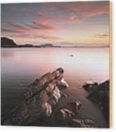 Seil Island Sunset Wood Print