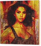 Selena Gomez 3 Wood Print