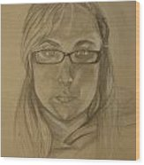 Self Portrait 09 Wood Print