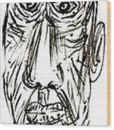 Self-portrait As An Old Man Wood Print