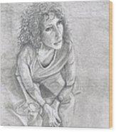 Self Portrait Of Natalie Trujillo Wood Print