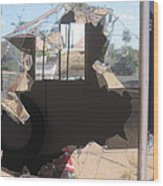 Self Portrait  Peeling Window Casa Grande Arizona 2004 Wood Print