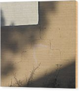 Self Portrait Shadow Wall Casa Grande Arizona 2004 Wood Print