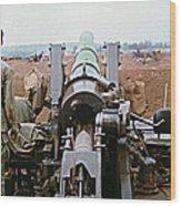 Self-propelled 8 Inch Howitzer M110 Lz Oasis R V N 1968 Wood Print