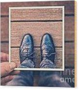 Selfie Wood Print