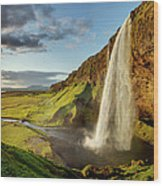 Seljalandsfoss Iceland Wood Print