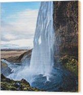Seljalandsfoss Waterfall Wood Print
