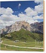 Sella Group. Italian Dolomites Wood Print