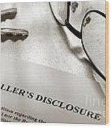 Seller Property Disclosure Wood Print