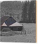 Selma Barn Scene Wood Print