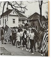 Selma To Montgomery Wood Print by Benjamin Yeager