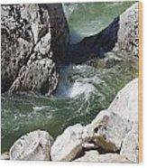 Selway Falls Bowl Wood Print