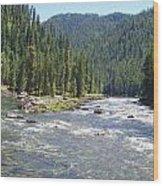 Selway River Wood Print