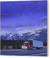 Semi-trailer Truck Wood Print