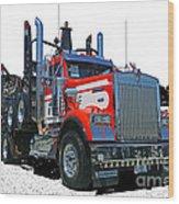 Semi Trucks Catr3120-13 Wood Print