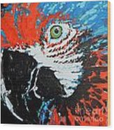 Semiabstract Parrot Wood Print