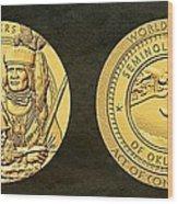Seminole Nation Code Talkers Bronze Medal Art Wood Print