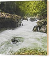 Semuch Champey Waterfalls Wood Print