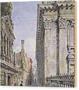 Senate House Passage, Cambridge, 1843 Wood Print