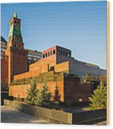 Senate Tower And Lenin's Mausoleum - Square Wood Print