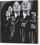Senator Eugene Mccarthy  Collage Democratic Nat'l Convention Miami Beach Florida 1972-2012  Wood Print