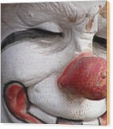 Send In The Clown Wood Print