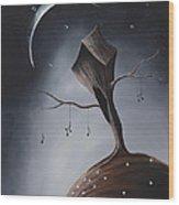 Send Me Your Love While I Sleep By Shawna Erback Wood Print by Shawna Erback