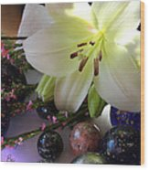 Send The Light Lily With Marbles Wood Print