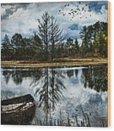 Seney And The Rowboat Wood Print