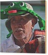 Senior Frog Wood Print