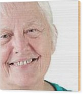 Senior Woman Portrait Smiling Wood Print