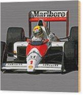 Senna '89 Wood Print