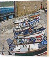 Sennen Cove Fishing Fleet Wood Print