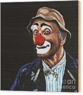 Senor Billy The Hobo Clown Wood Print