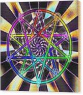 Sense Creation Five Wood Print by Derek Gedney