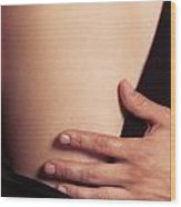 Sensual Abstract Closeup Of A Couple Wood Print