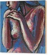 Sentimental Mood- Female Nude Wood Print