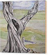 Sentinel Tree Wood Print