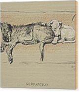 Separation, 1930, 1st Edition Wood Print