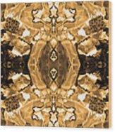 Sepia Bag Fairies 4 Wood Print