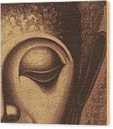Sepia Chalk 1 Wood Print