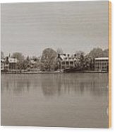 Sepia Chestertown Waterfront Wood Print